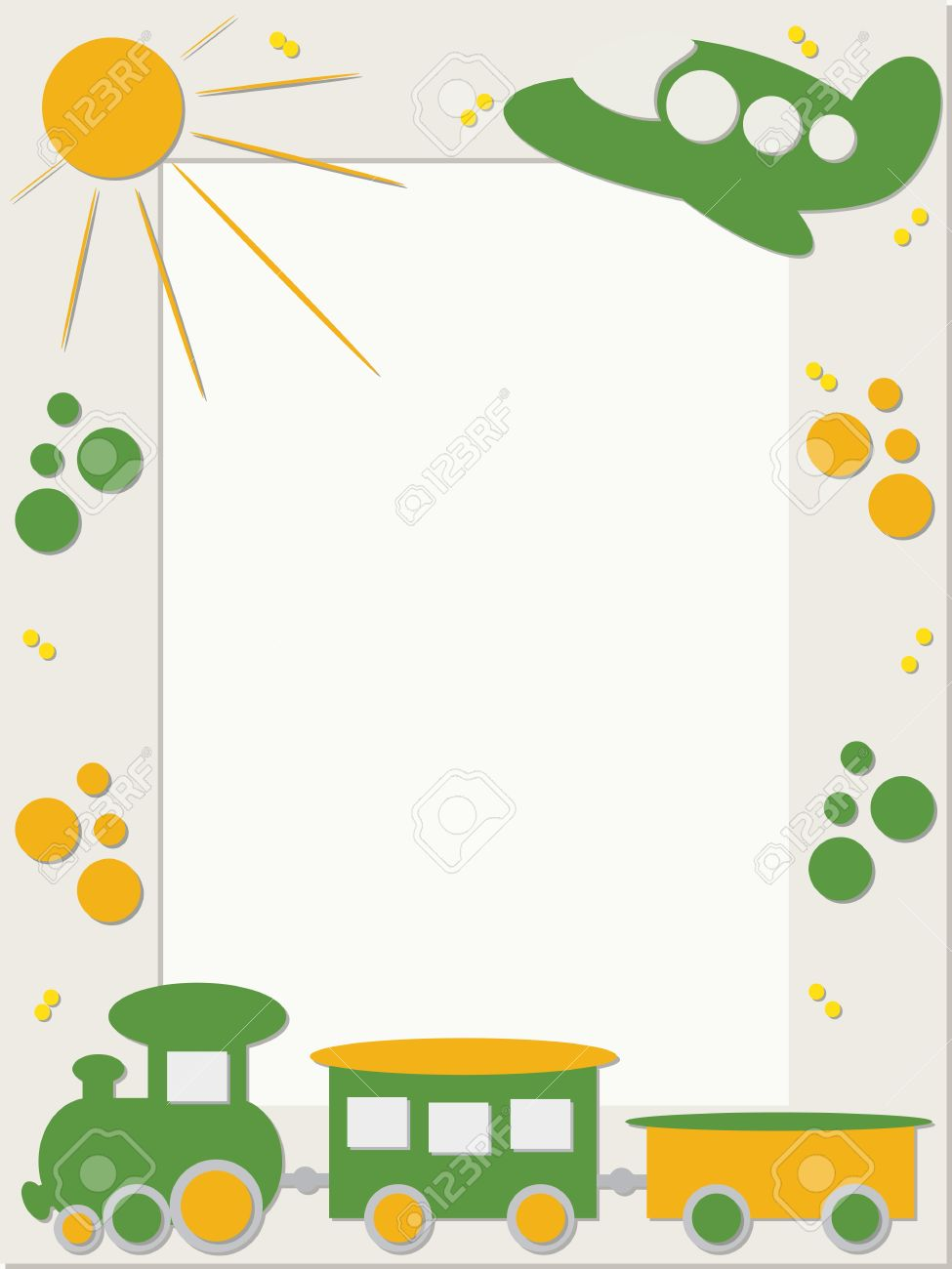 Children frame with train and plane royalty free cliparts vectors children frame with train and plane stock vector 12765002 jeuxipadfo Gallery