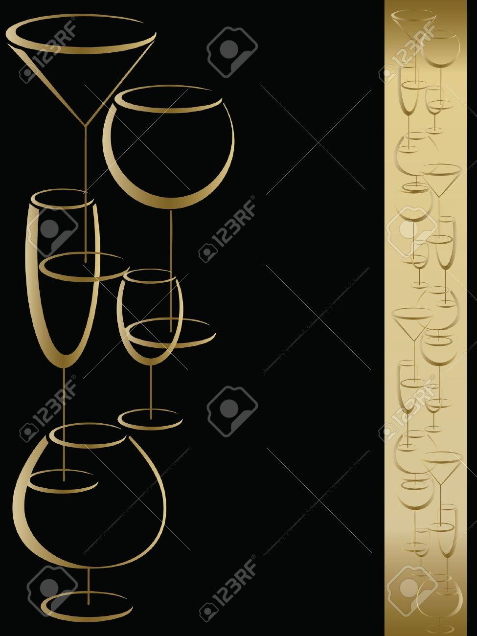 Bar Wine Card Menu Royalty Free Cliparts, Vectors, And Stock ...