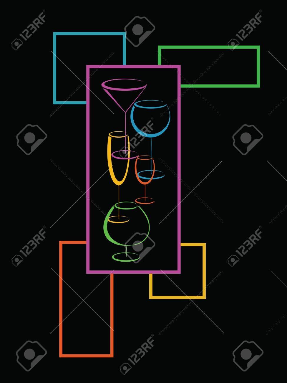 Bar wine card menu Stock Vector - 12764968