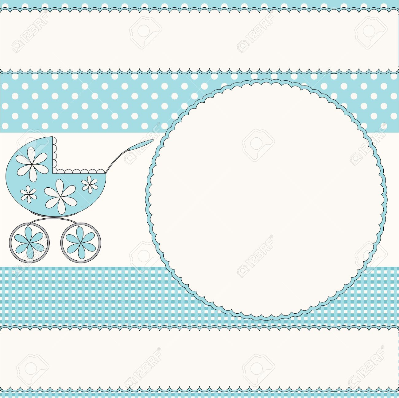 baby boy photo frame stock vector 13739773