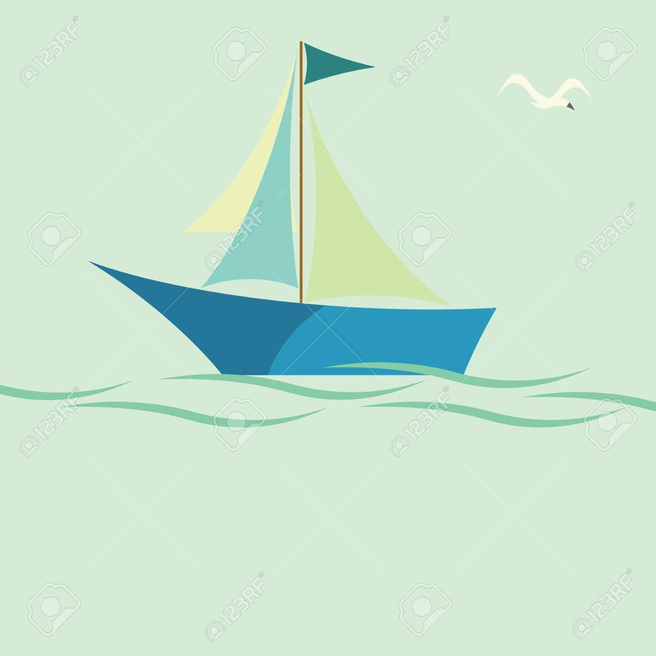 Sailing boat Stock Vector - 13855417