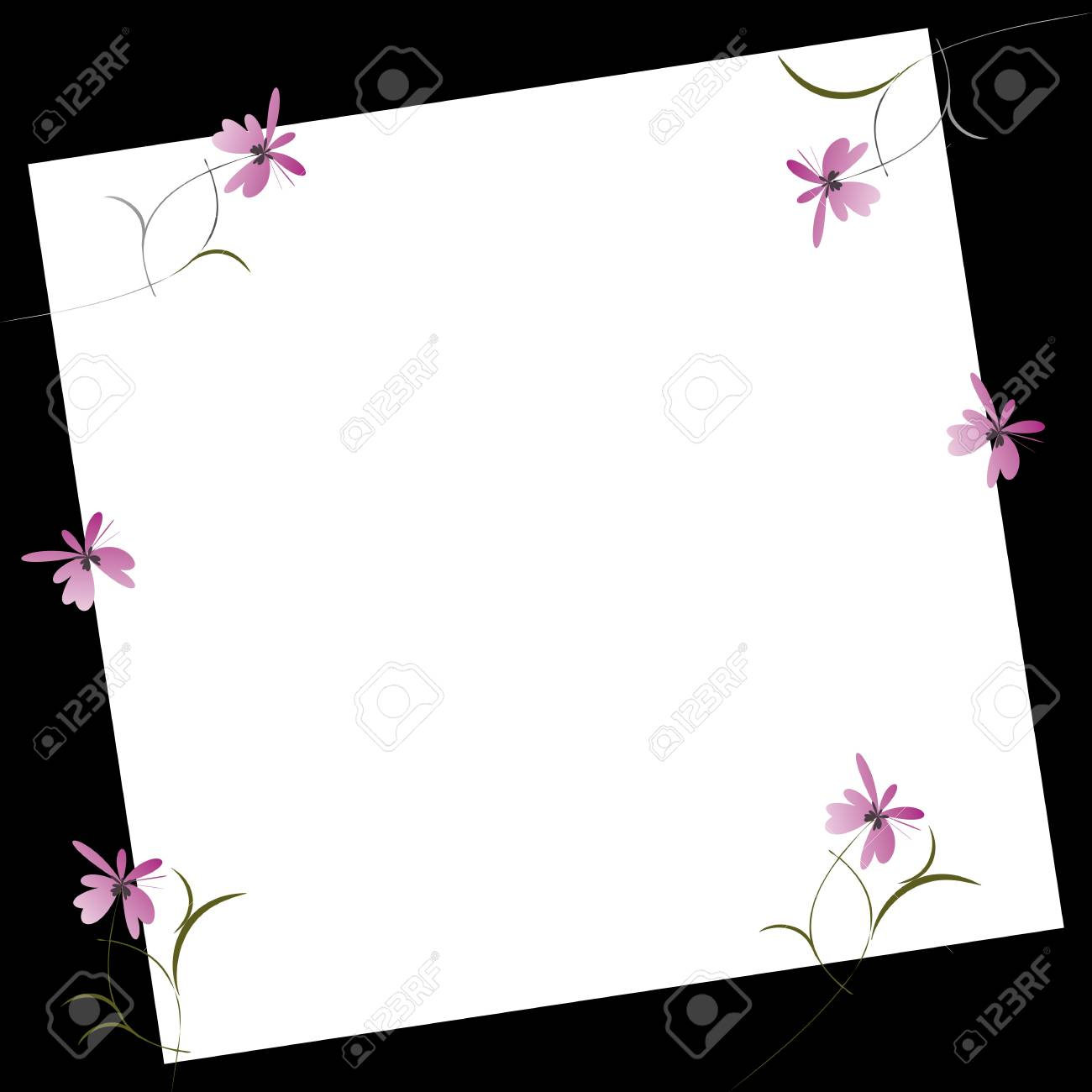 Invitation card with flowers Stock Vector - 14952227