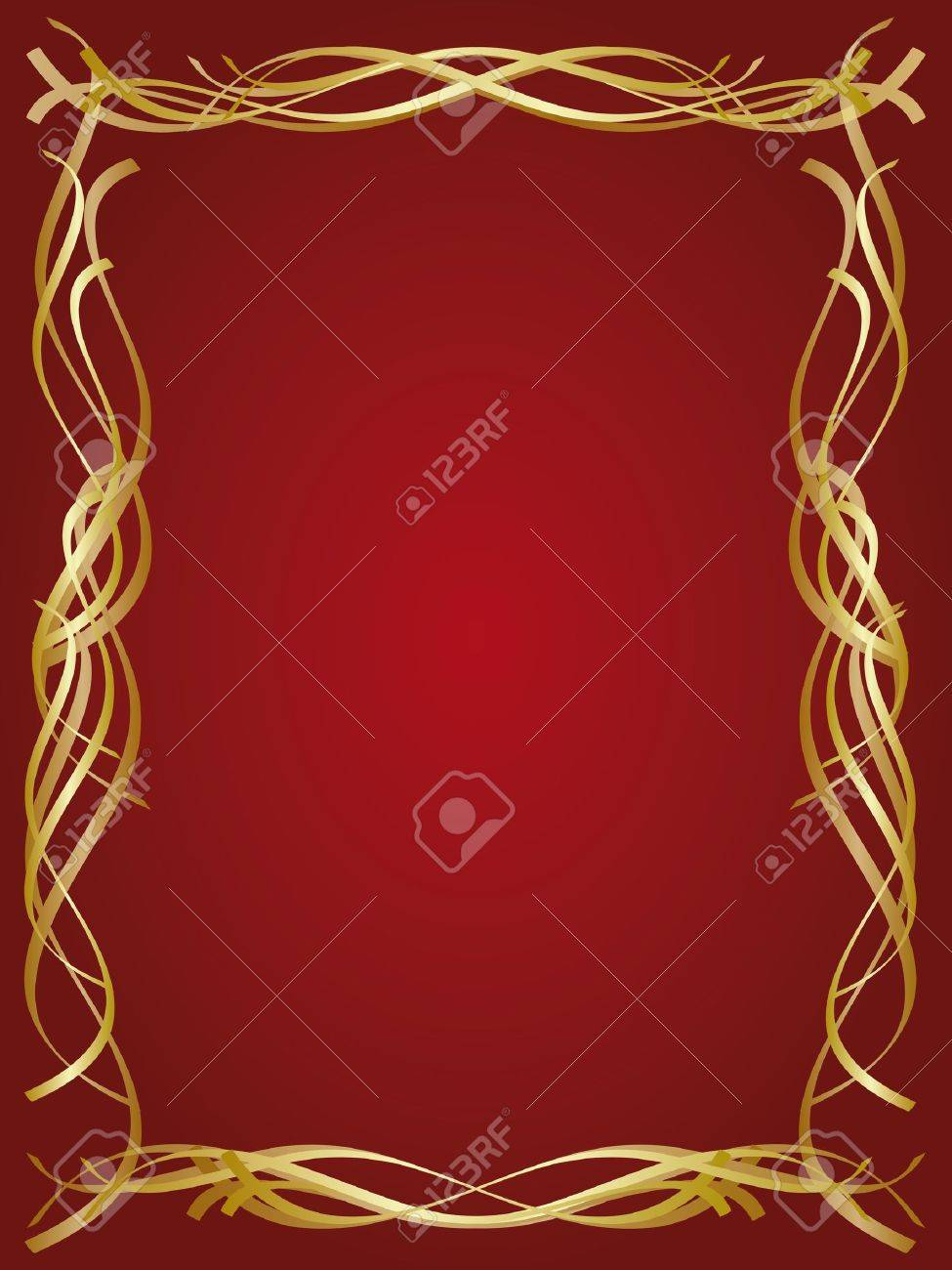 Gold decorative frame Stock Vector - 15820001