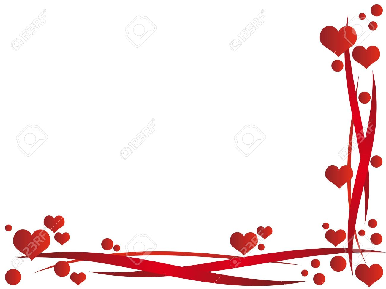 Valentine Frame With Hearts Royalty Free Cliparts, Vectors, And ...