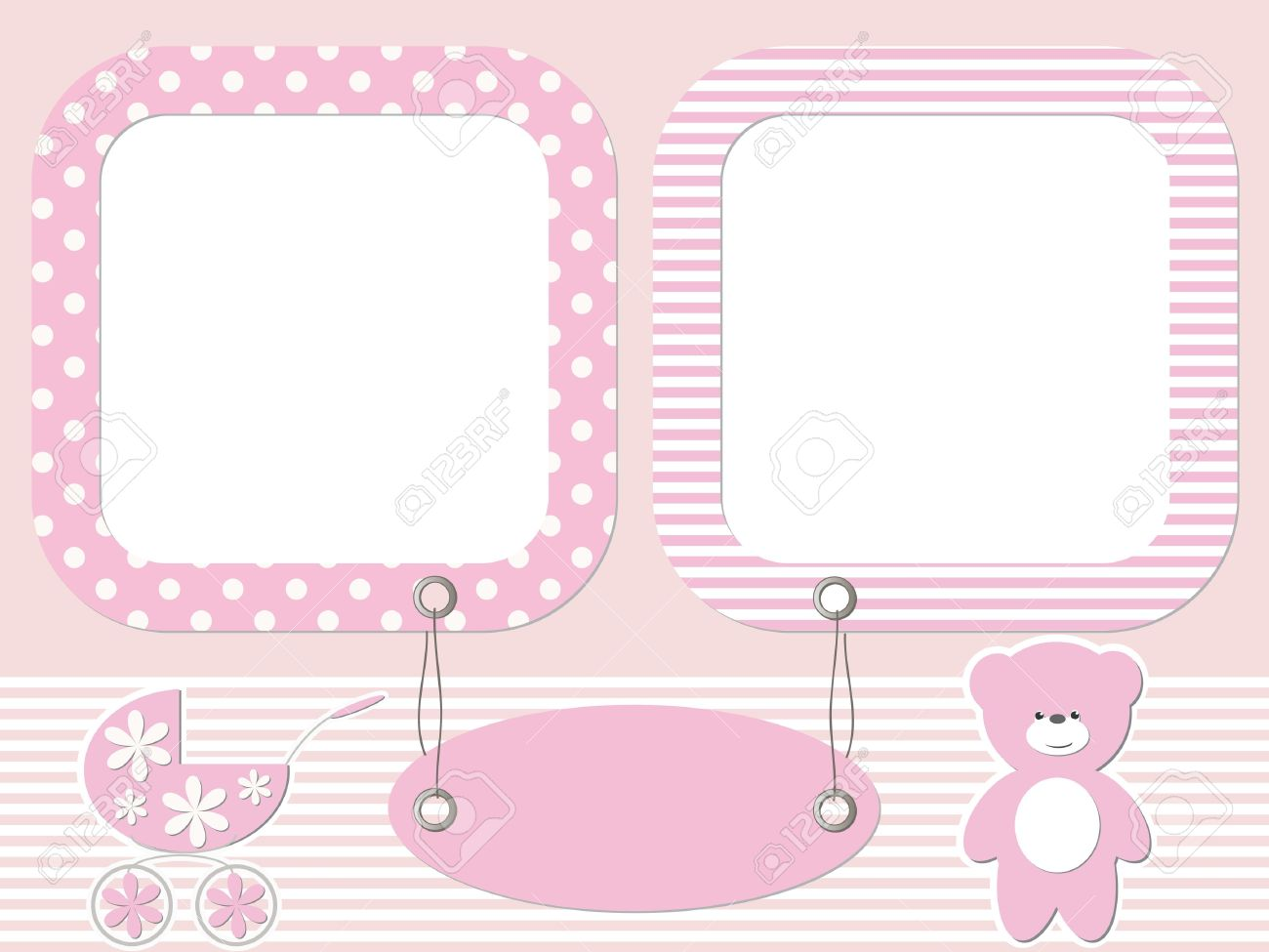 baby photo frames stock vector 16664568