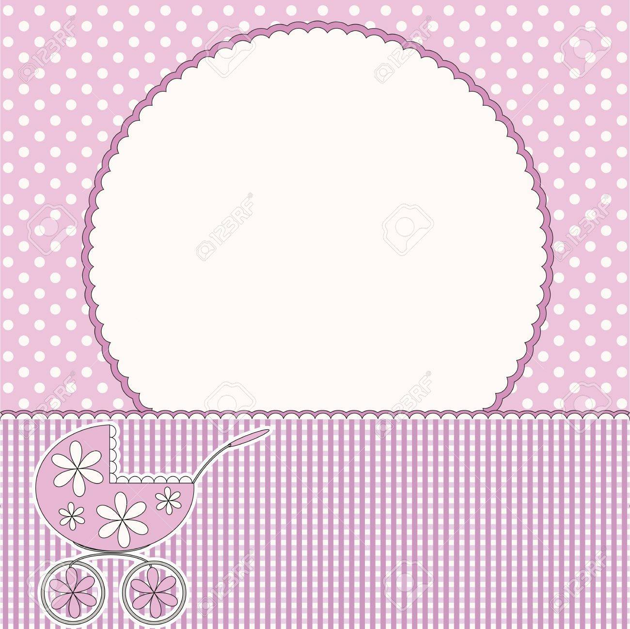 baby arrival card or baby photo frame stock vector