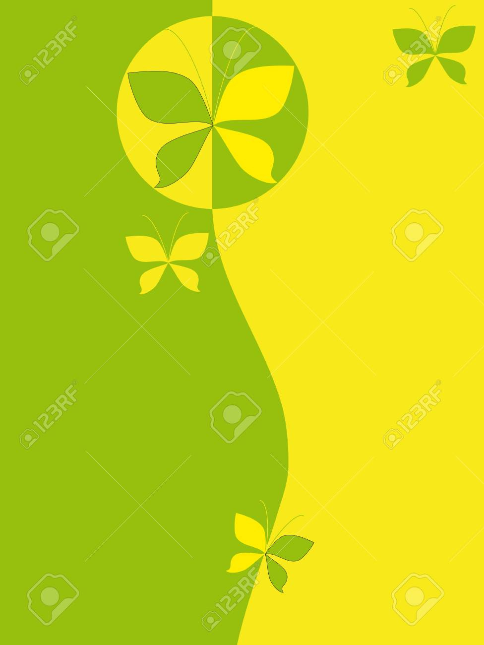 Abstract background with butterflies Stock Vector - 16664550