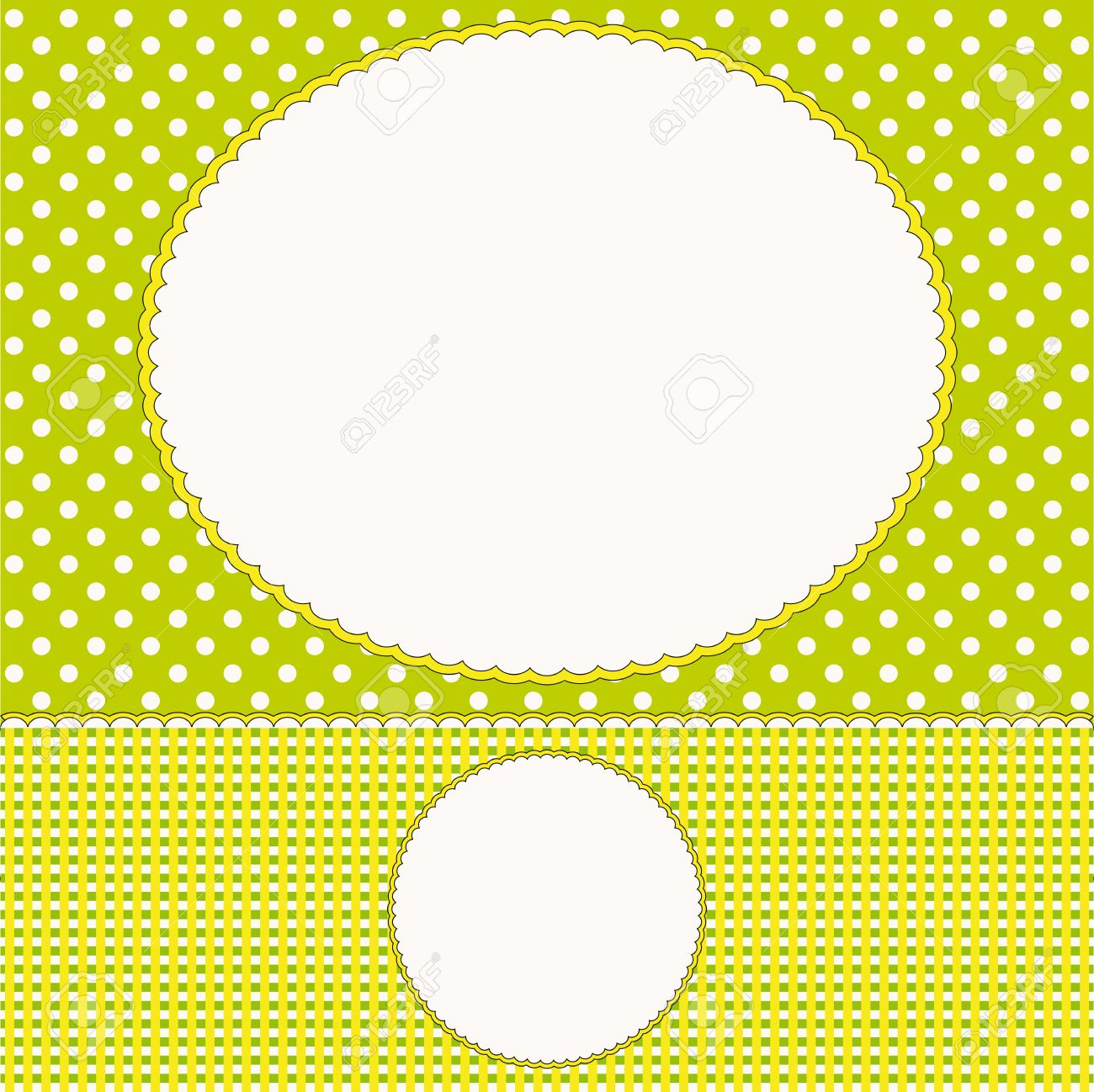 Babies Background Or Photo Frame Royalty Free Cliparts Vectors