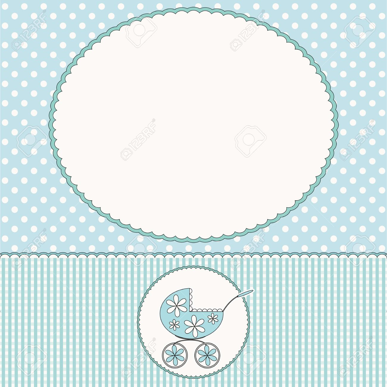 baby arrival card or baby photo frame stock vector 16814539