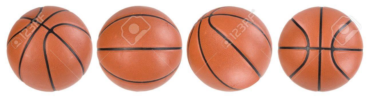Four basketball ball isolated. paths - 4838127