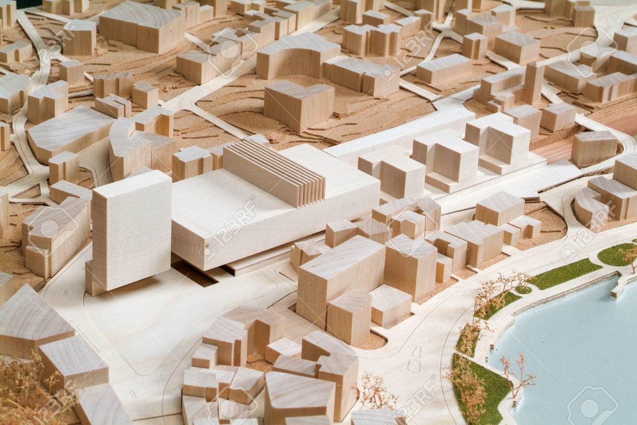 site surrounding model for architectural presentation and background