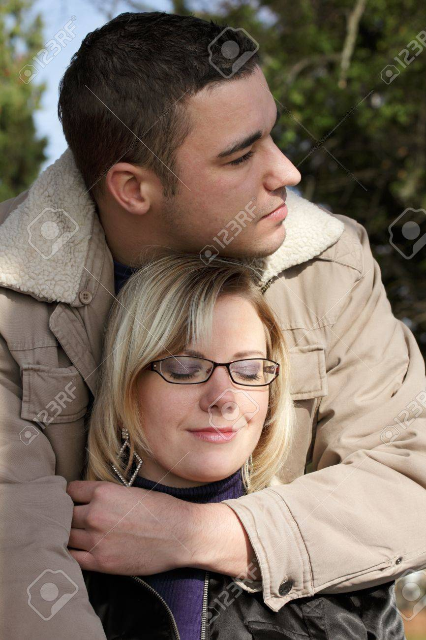autumn - man and woman as a couple in love Stock Photo - 8527884