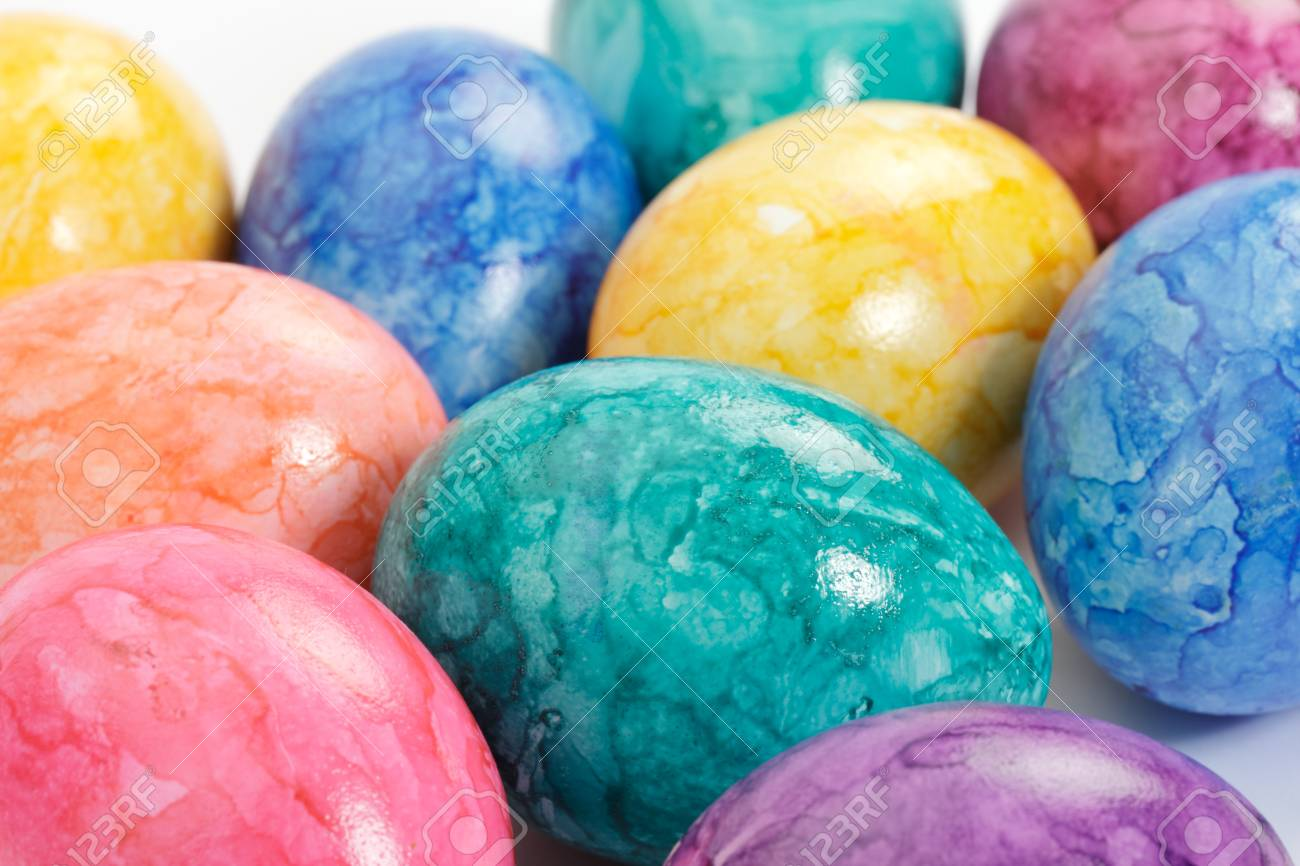 Colored Easter eggs as close up. Stock Photo - 9001916