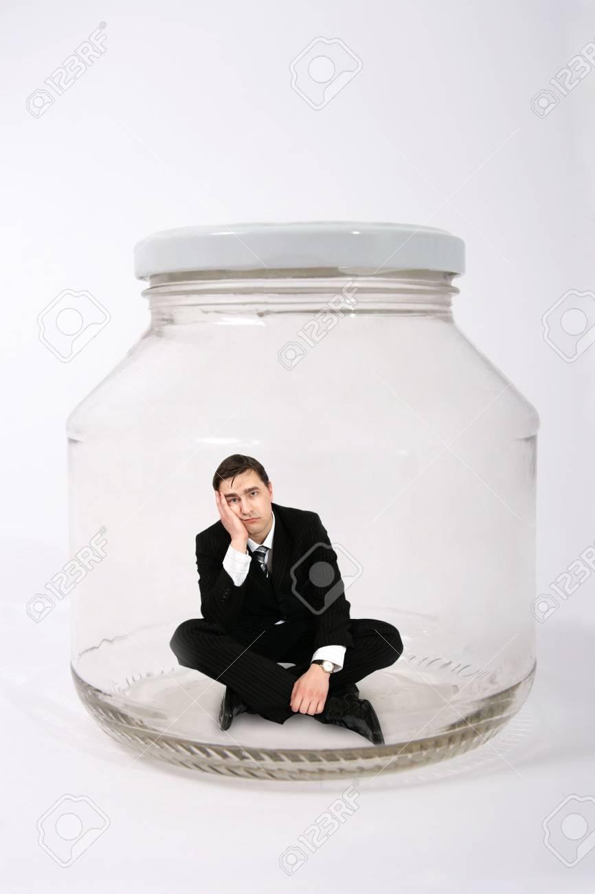 businessman in the jar Stock Photo - 1482308