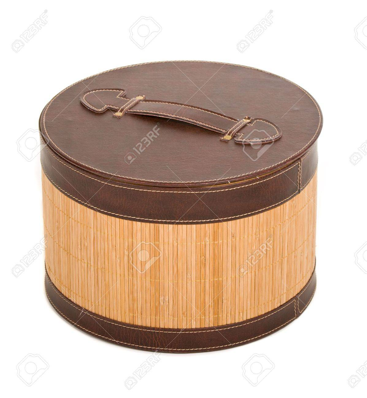 Fancy Wooden Box Over White Background
