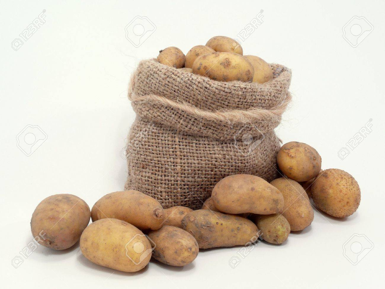 Potatoes In The Bag Stock Photo