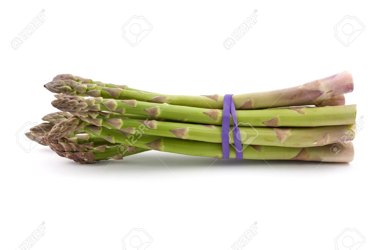 Fresh market asparagus isolated on white background Stock Photo - 8609638