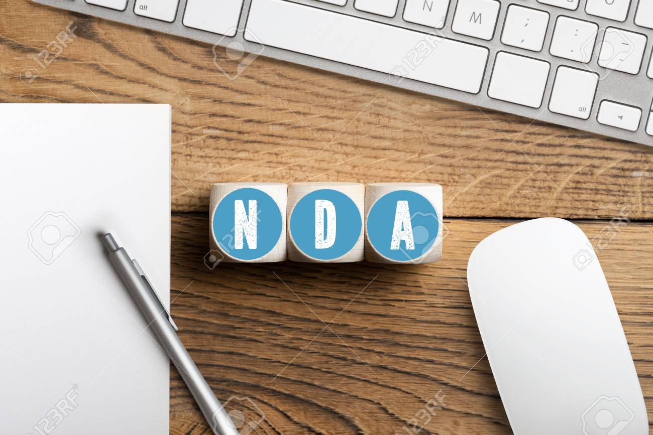 Cubes With Acronym Nda For