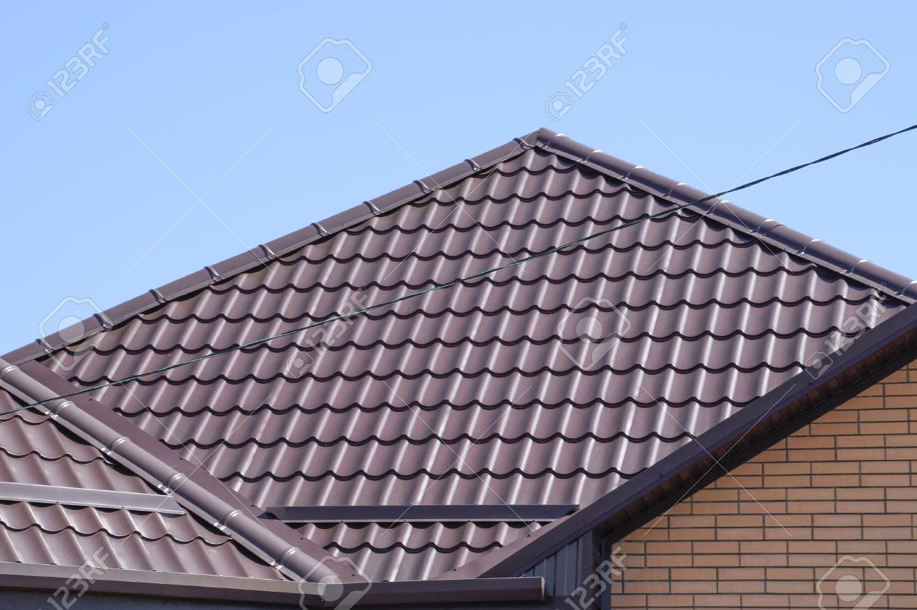 Roof Metal Sheets Modern Types Of Roofing Materials Stock Photo Picture And Royalty Free Image Image 57668629