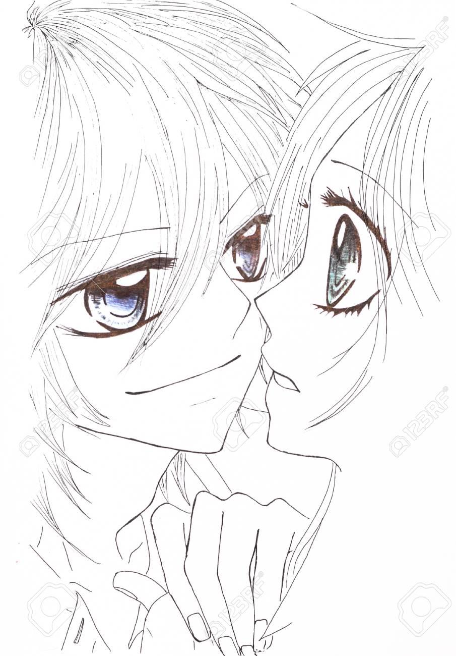 Zwei Mädchen Ein Kerl Japanisch