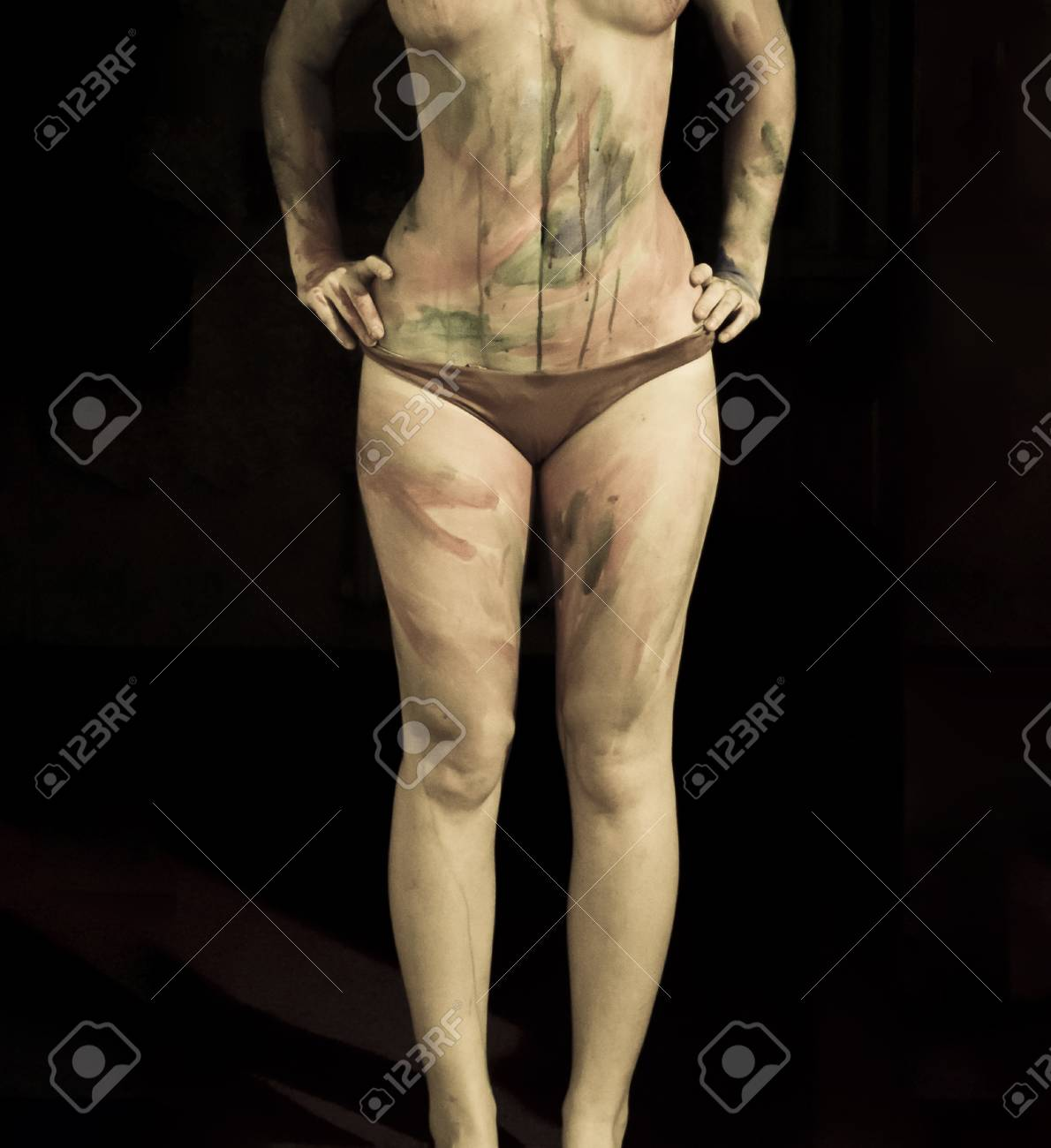 Body Art Drawing On The Body Beautiful Girl With Painted Body Stock Photo Picture And Royalty Free Image Image 92527395