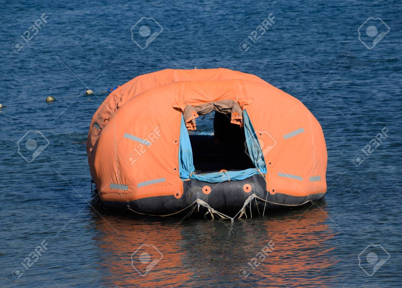 Inflatable boat with tent Canopy on boat. Stock Photo - 106340240 & Inflatable Boat With Tent Canopy On Boat. Stock Photo Picture And ...