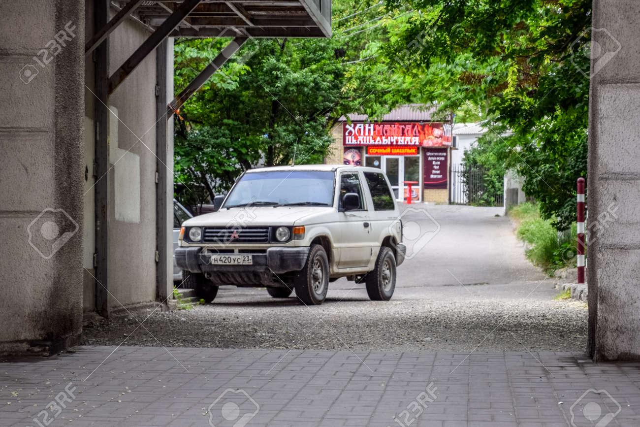 Novorossiysk, Russia - May 20, 2018: Old Mitsubishi SUV on the streets of Novorossiysk. - 133522186