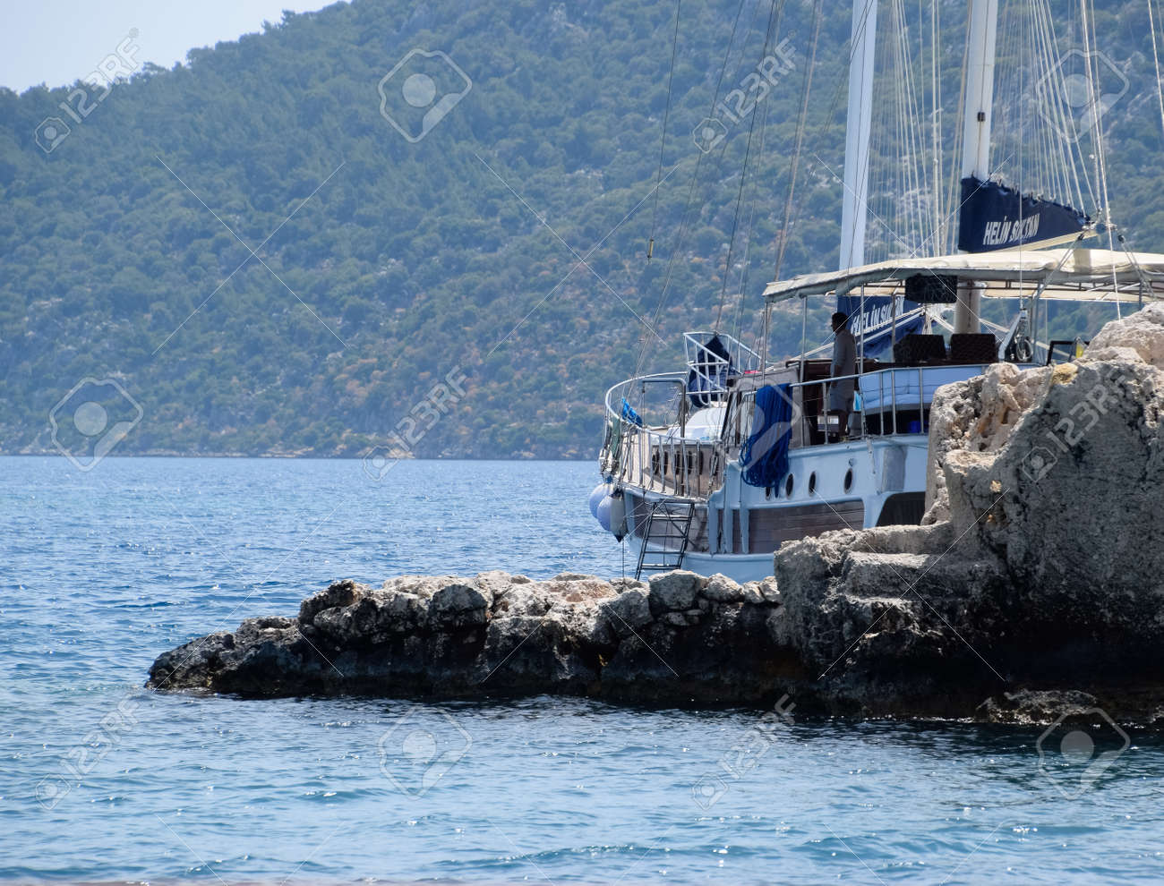Demre, Turkey - May 21, 2019: The ruins of the city of Mira, Kekova, an ancient megalithic city destroyed by an earthquake. - 133522572