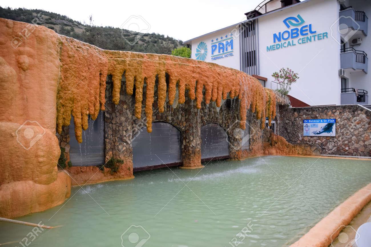 Demre, Turkey - May 21, 2019: Pam Thermal Hotel, Hot spring mineral medicinal water. - 133522590