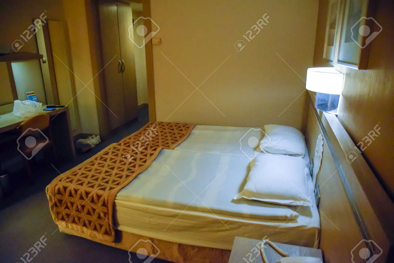 Pamukkale, Demre, Turkey - May 21, 2019: Hotel room interior, Pam Hotel in Turkey near Pamukkale - 133523000