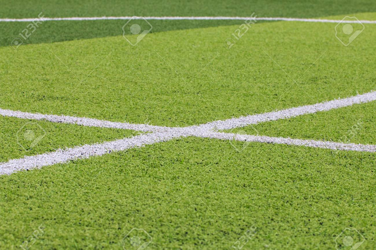 grass field from above. Grass Field From Above. Interesting Photo Of A Green Synthetic  Sports With Above