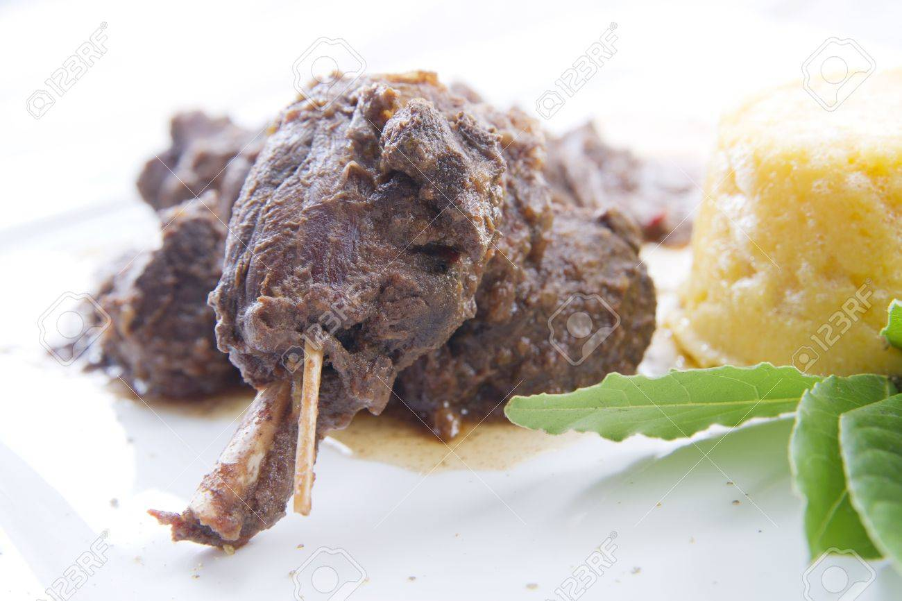 according dish of wild boar - 10568834