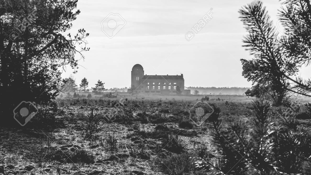 Radio Kootwijk Building Former Station In The Netherlands A For Dutch Colonies Overseas Stock