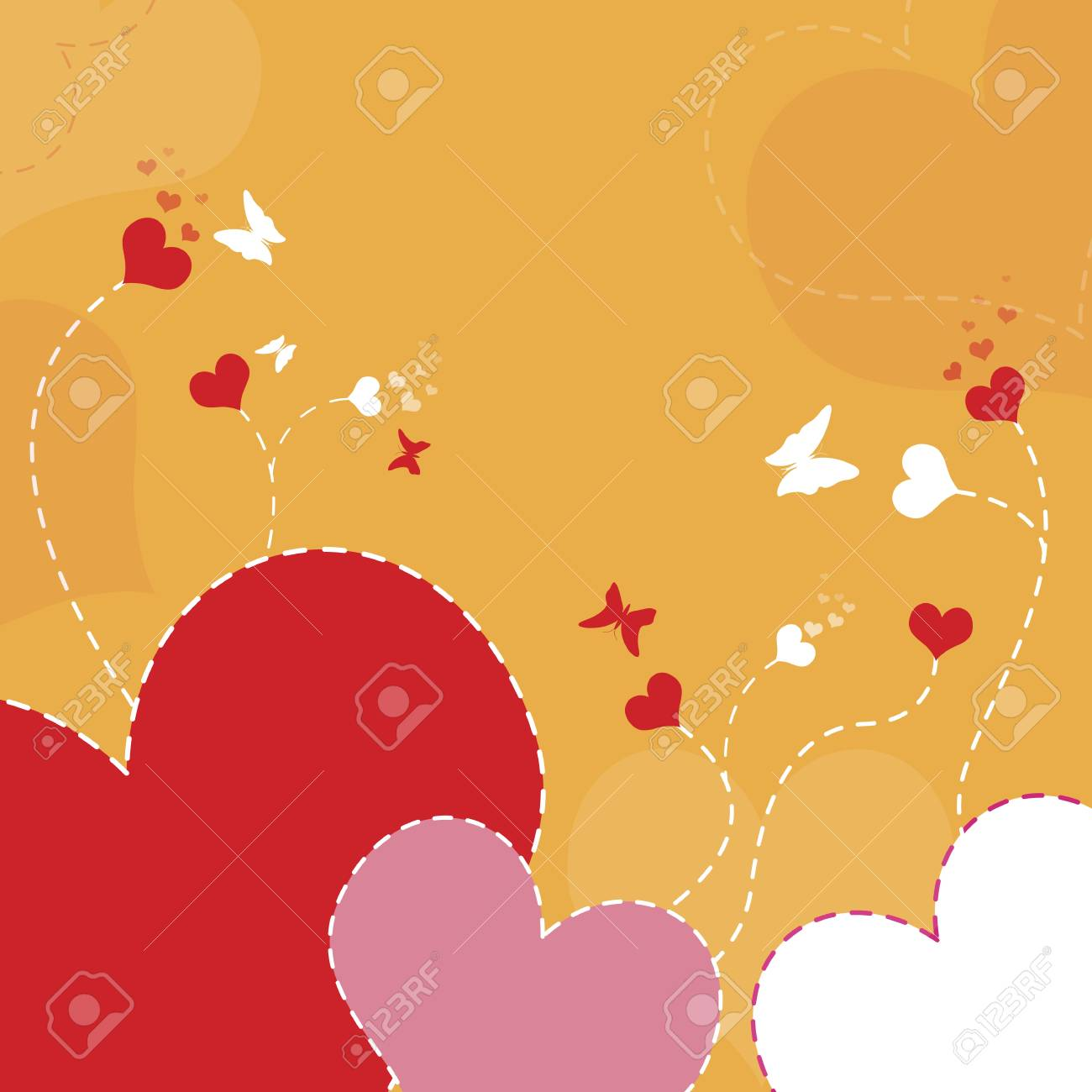 heart flower background Stock Vector - 12872395