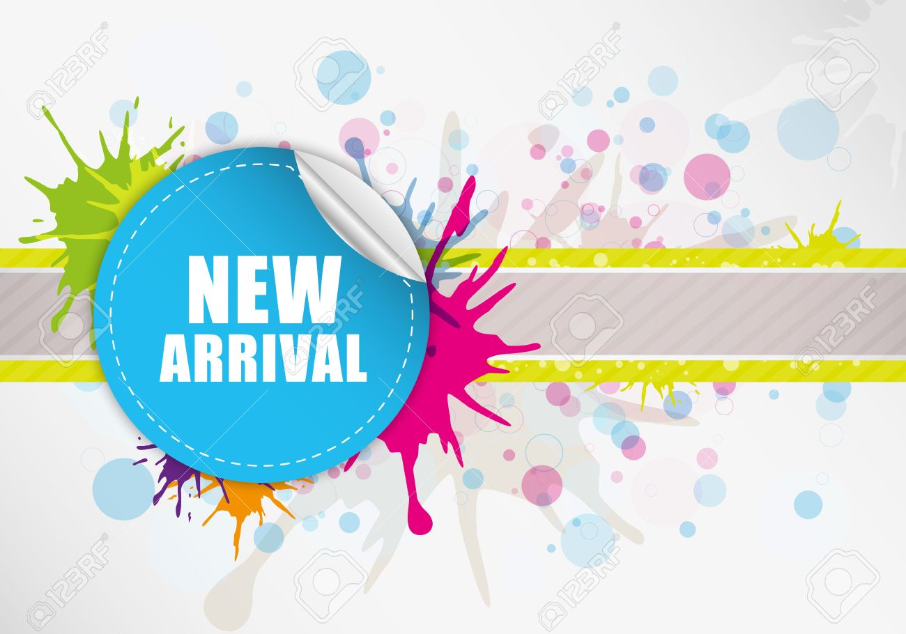 New arrival label design Stock Vector - 12872546