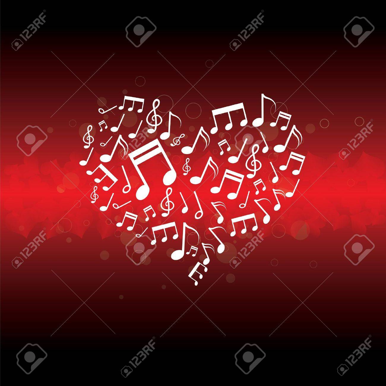 music in heart background Stock Vector - 13177223
