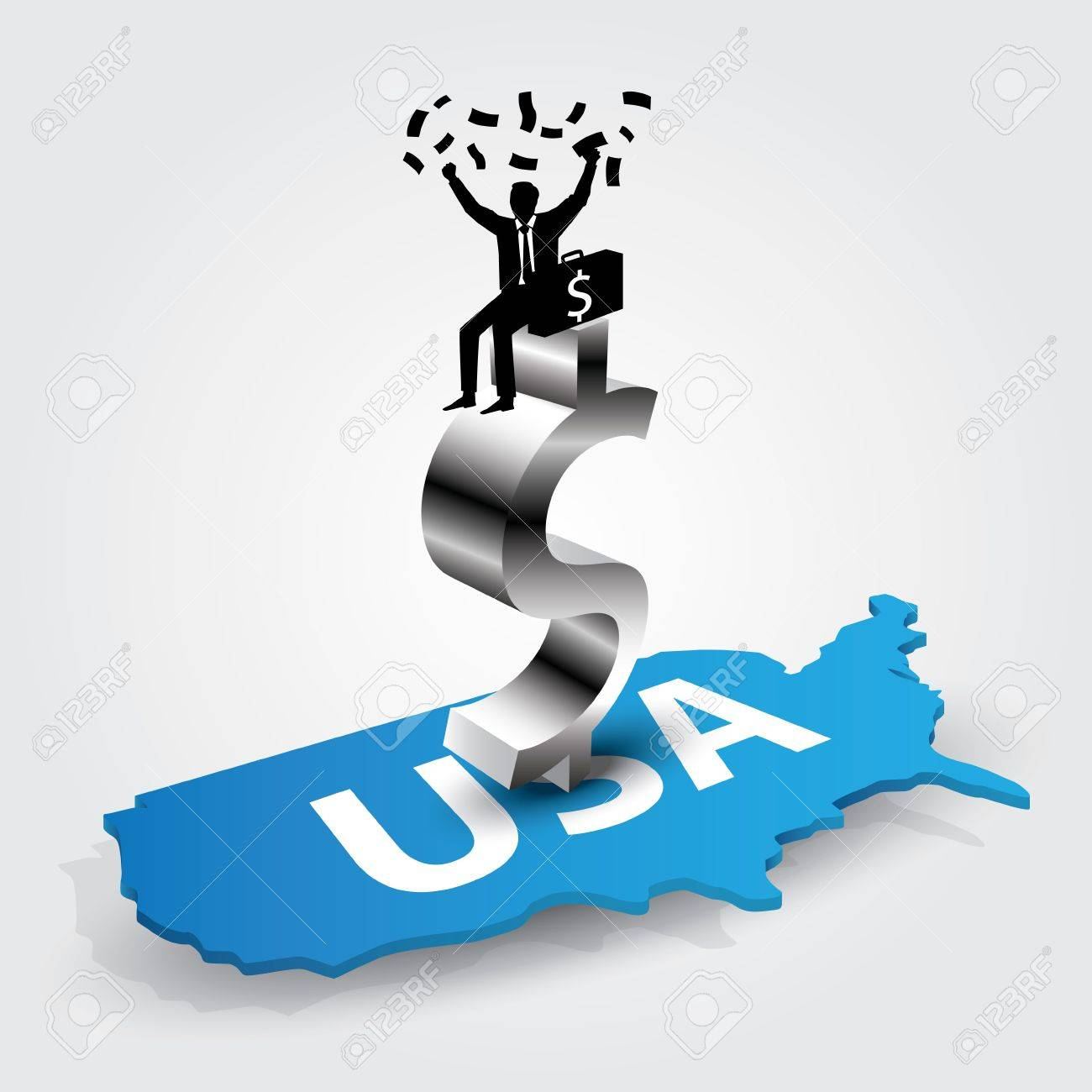 Americans rich Stock Vector - 13177374