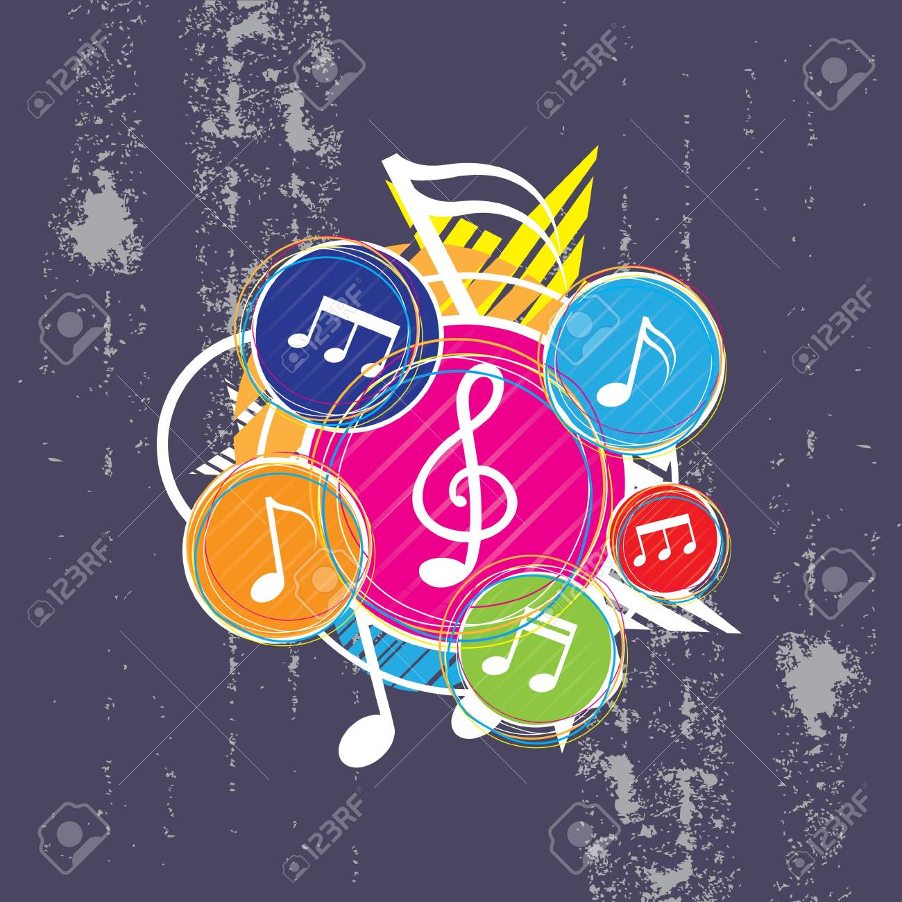 Music on grunge background Stock Vector - 13177429