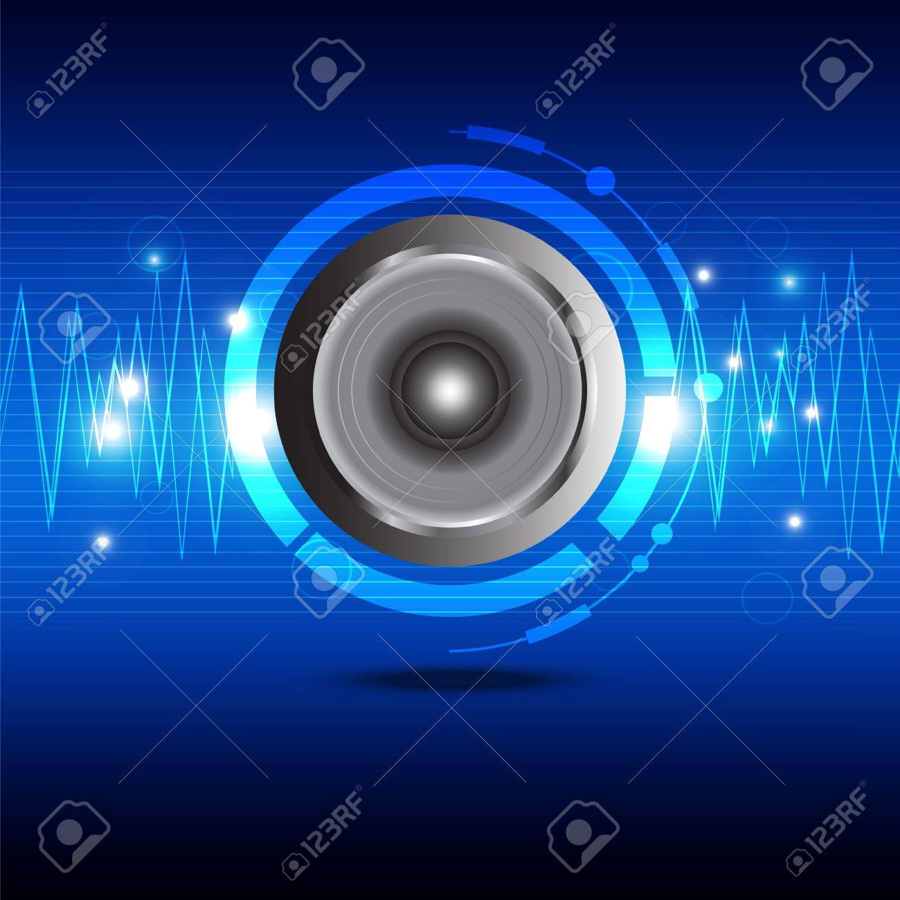 Digital Sound Wave From Speaker Royalty Free Cliparts, Vectors ...