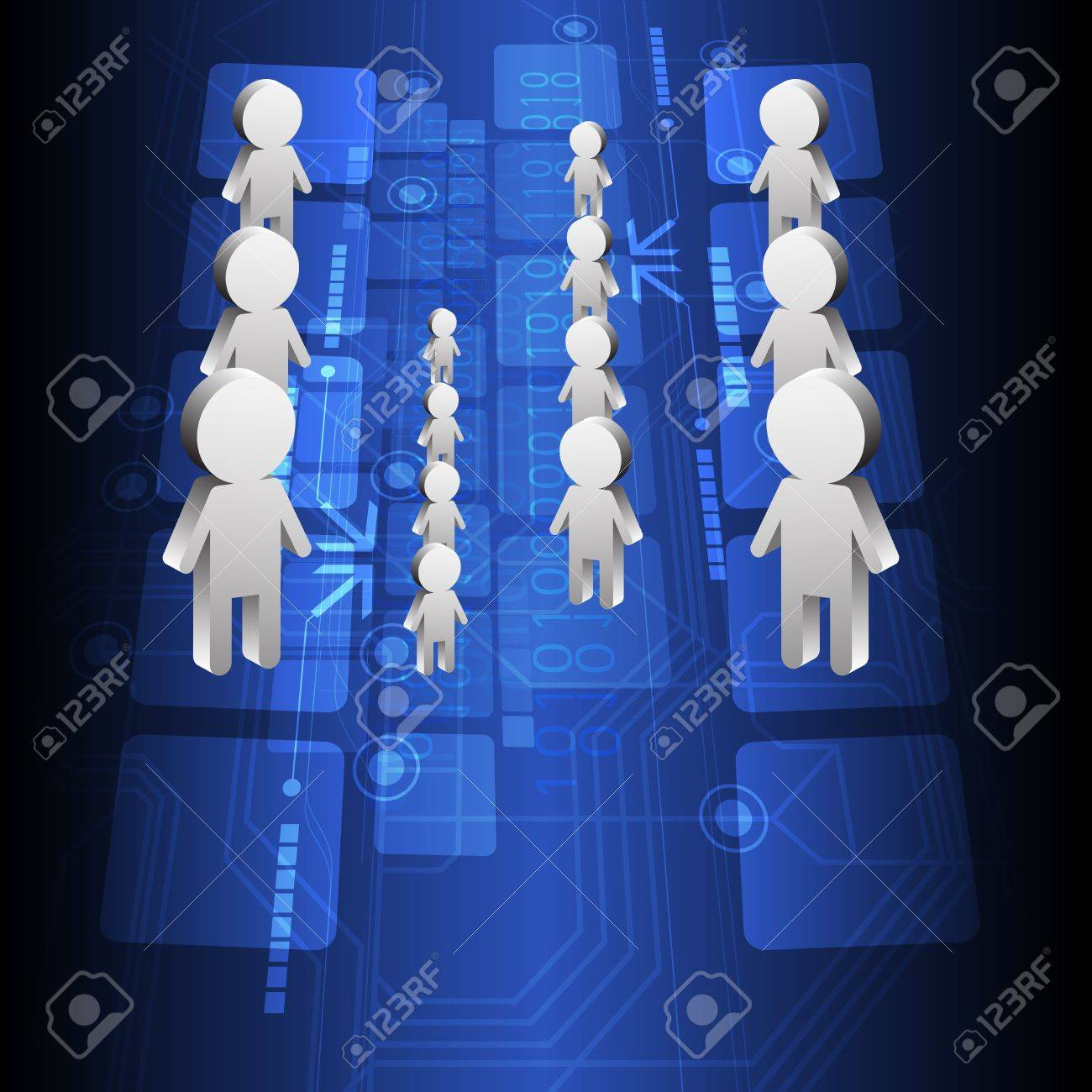 people and technology background design Stock Vector - 15235503