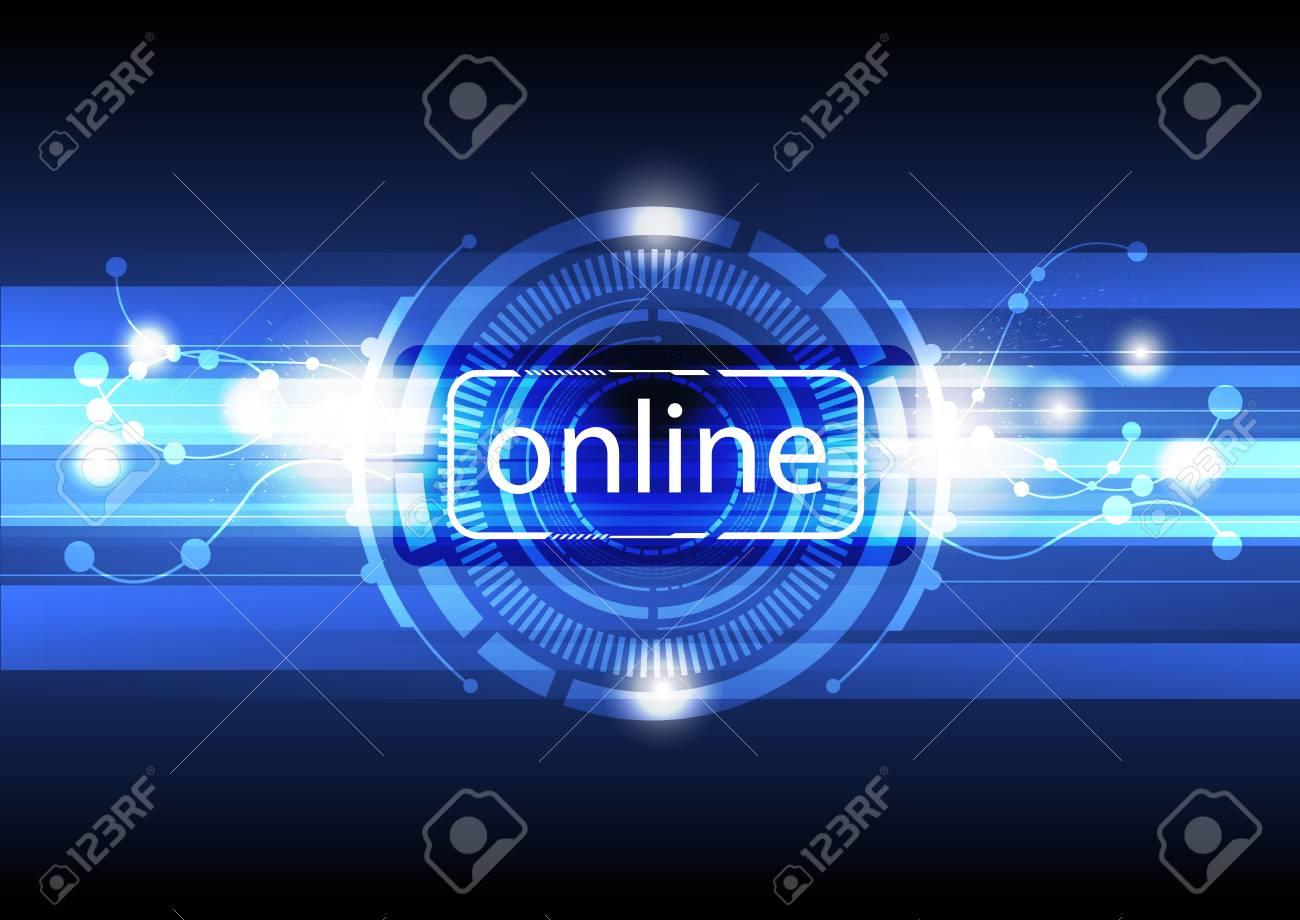 digital online concept background Stock Vector - 15352254