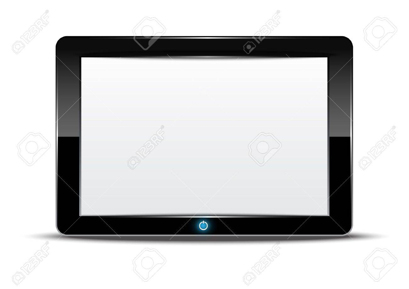 Tablet computer with white background Stock Vector - 15352195