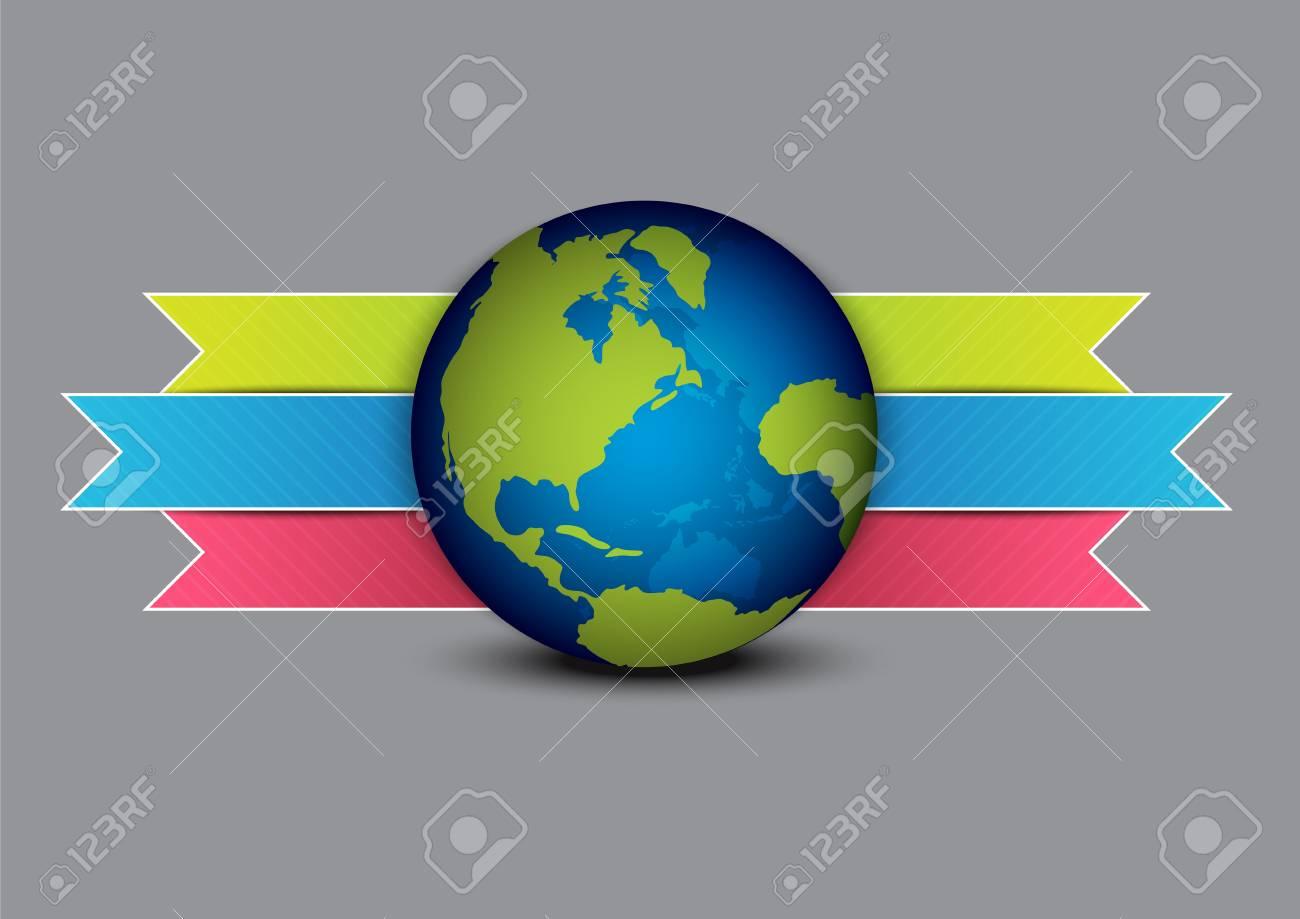globe and navigation menu design Stock Vector - 15811471