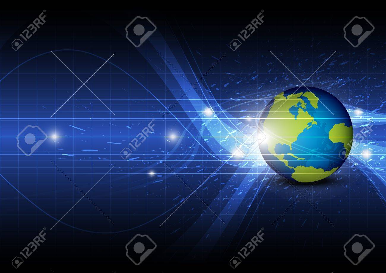 global technology background Stock Vector - 16600656