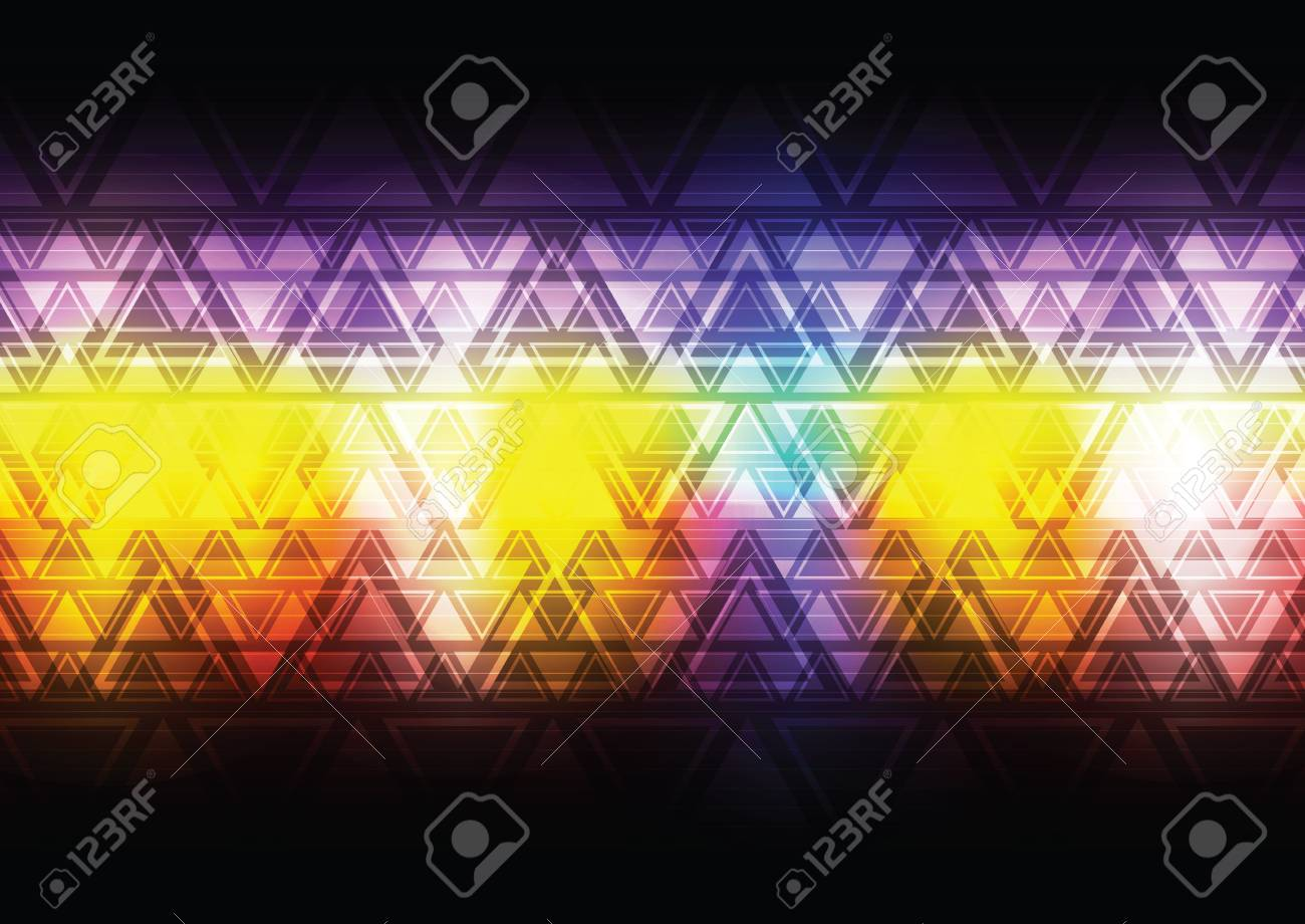 colorful abstract triangle background Stock Vector - 17094334