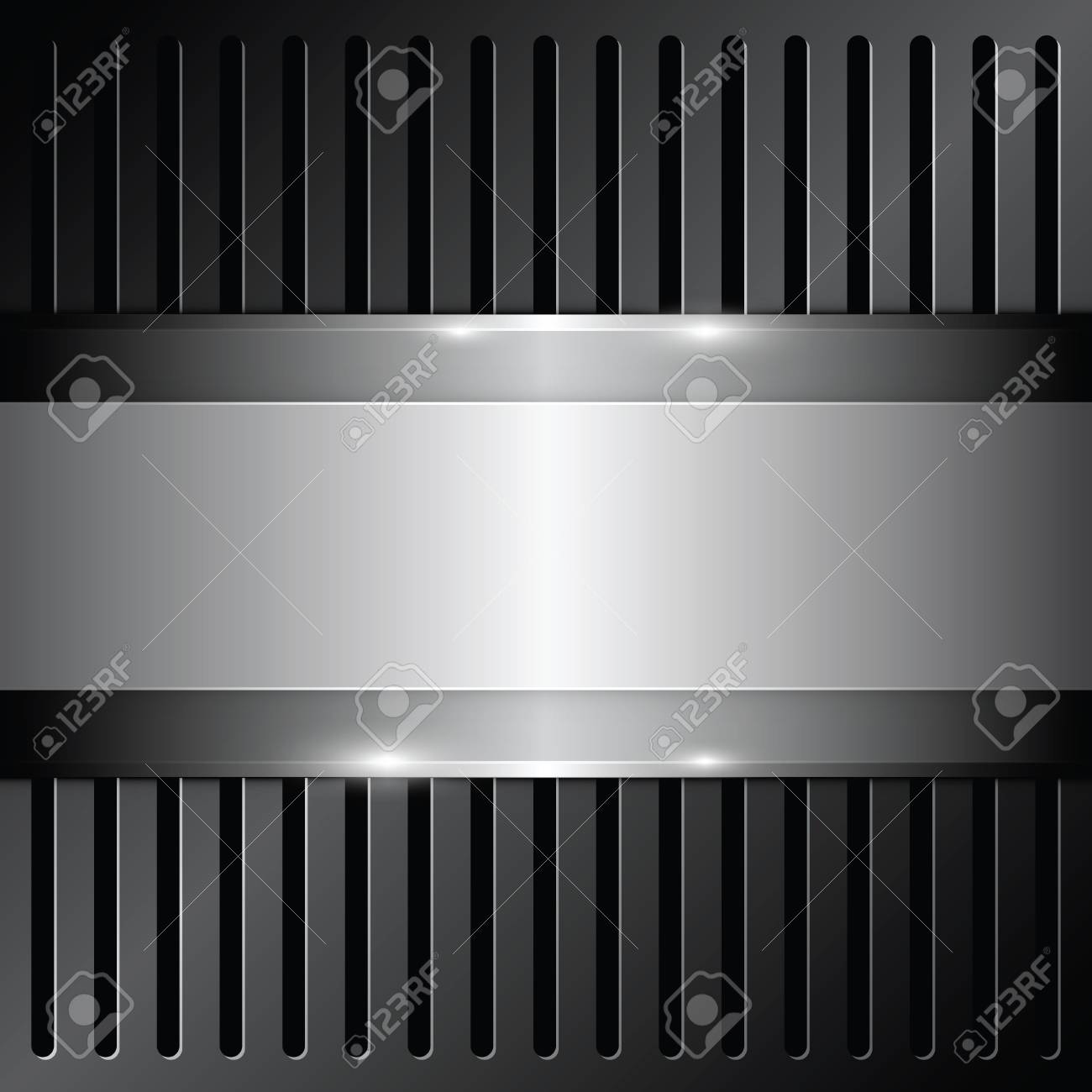 shiny metallic on grille background Stock Vector - 17094315