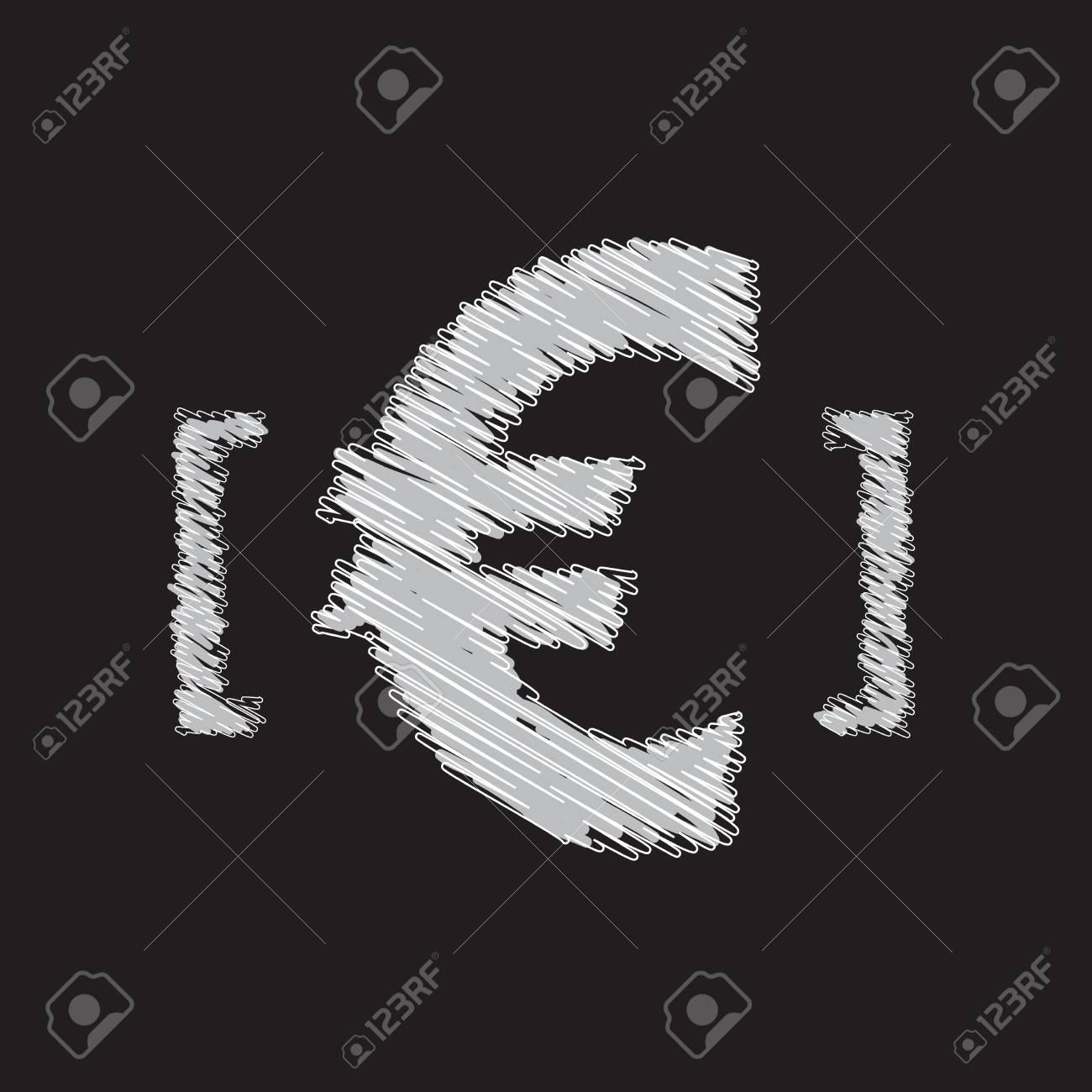 euro icon sketch design Stock Vector - 17886819