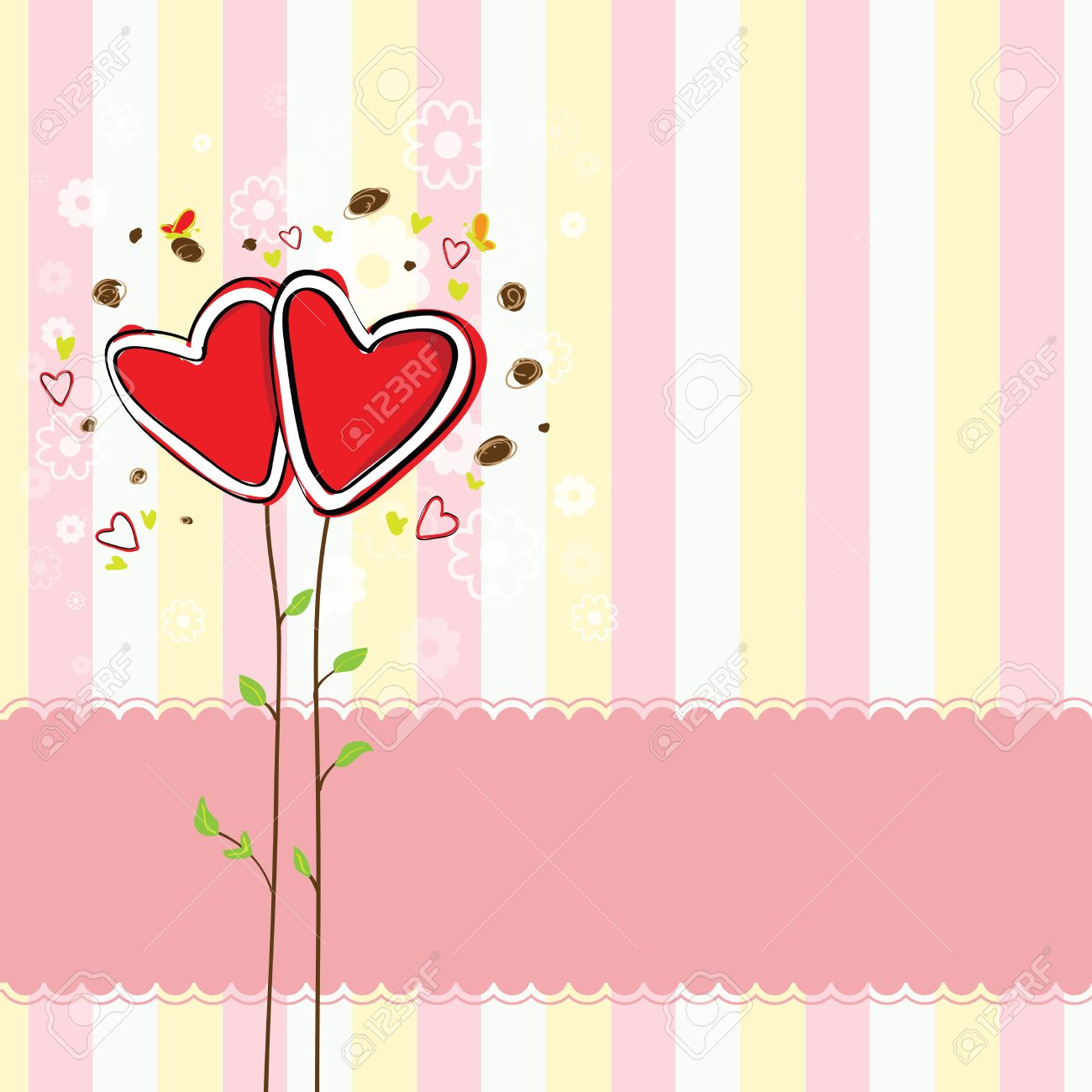 Cute heart tree and sweet background royalty free cliparts vectors cute heart tree and sweet background stock vector 19023118 voltagebd Choice Image