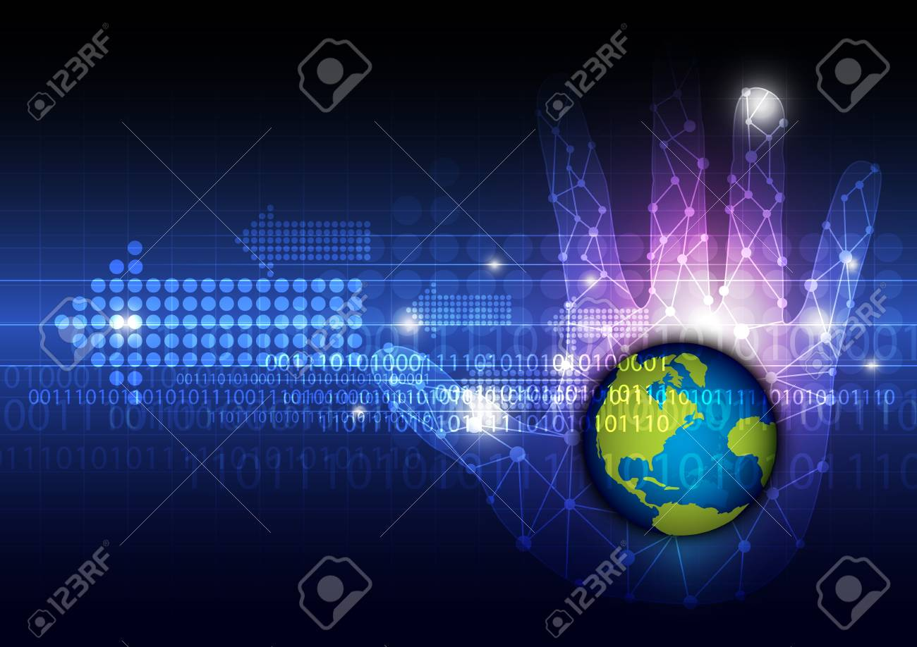 global technology in hand Stock Vector - 19681327