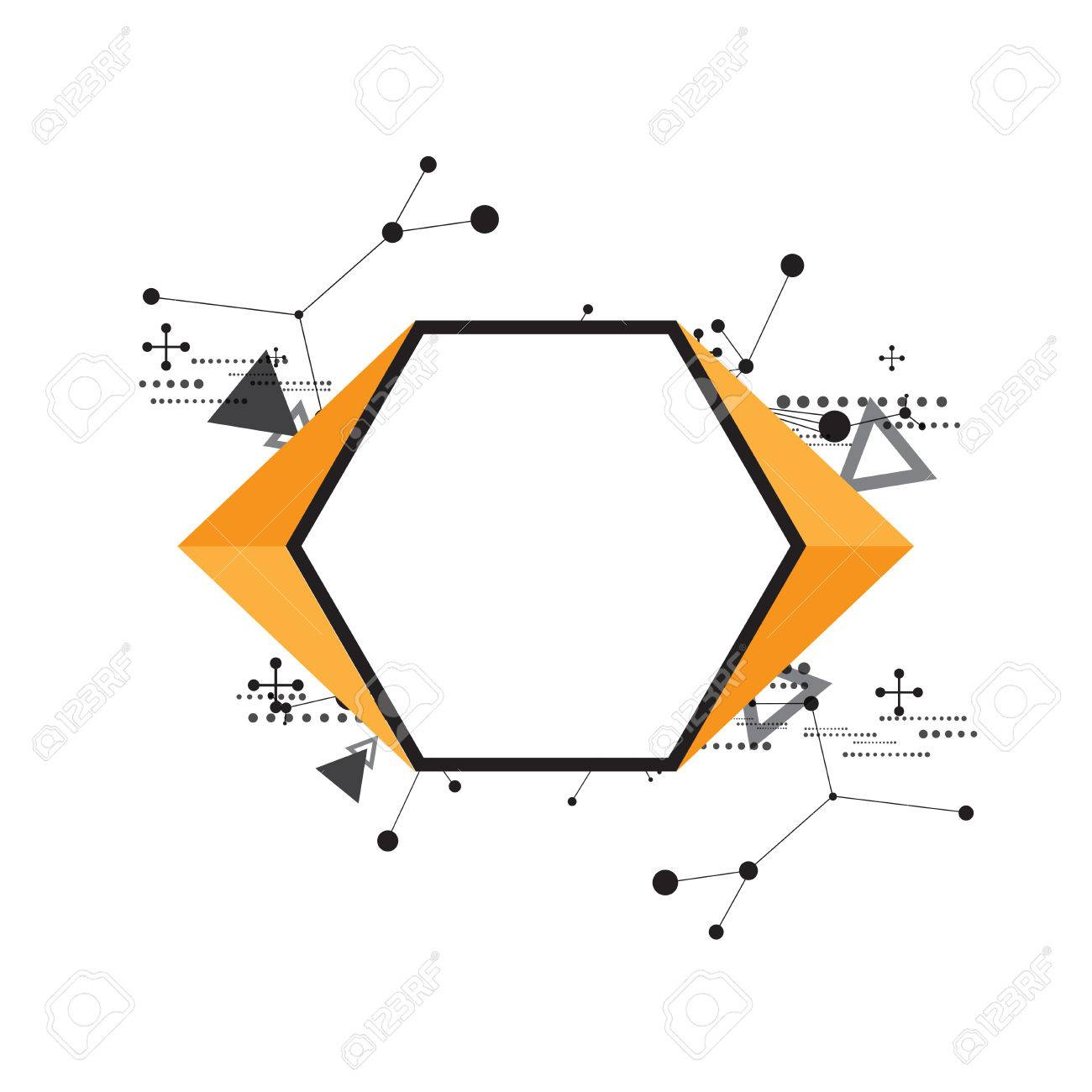 Abstract Science Background And Hexagon Frame Royalty Free Cliparts ...